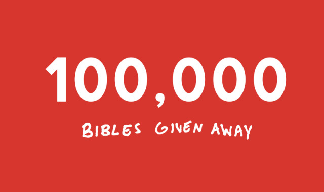 bible given away